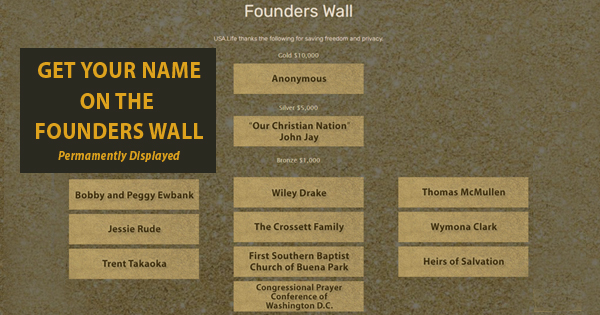 USA.Life Founders Wall