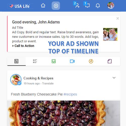 Timeline Header Advertising USA.Life