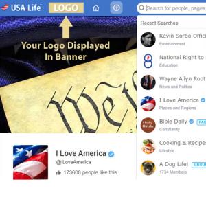 USA.Life Advertise Banner Logo